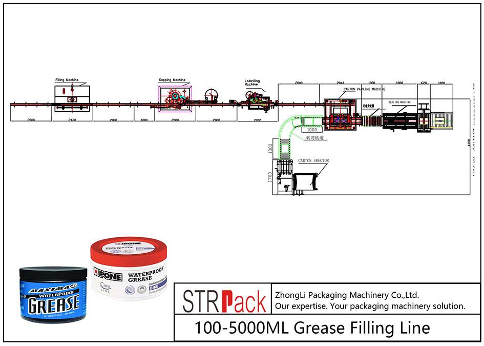 Автоматическая линия по розливу жира 100ML-5L