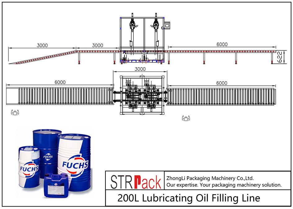 Автоматическая линия розлива смазочного масла 200 л