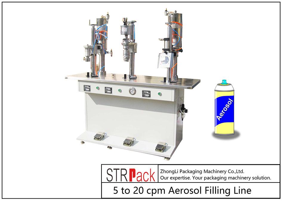 Полуавтоматическая машина для наполнения аэрозолей