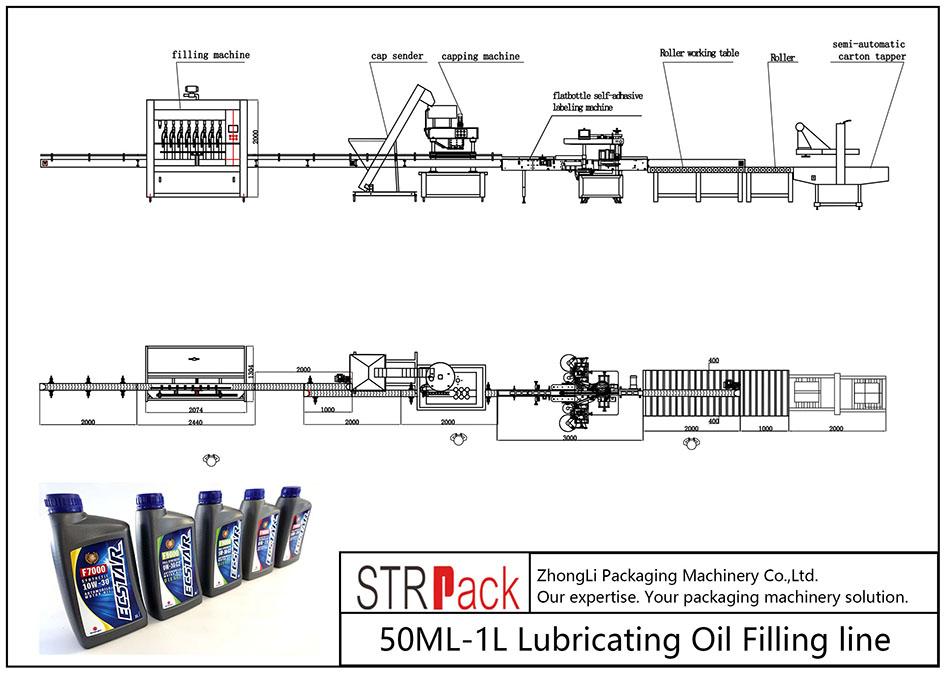 Автоматическая линия розлива смазочного масла 50МЛ-1Л