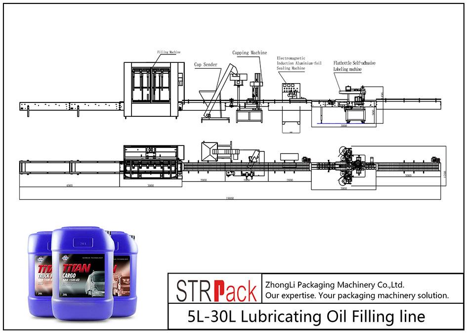Автоматическая линия розлива смазочного масла 5L-30L
