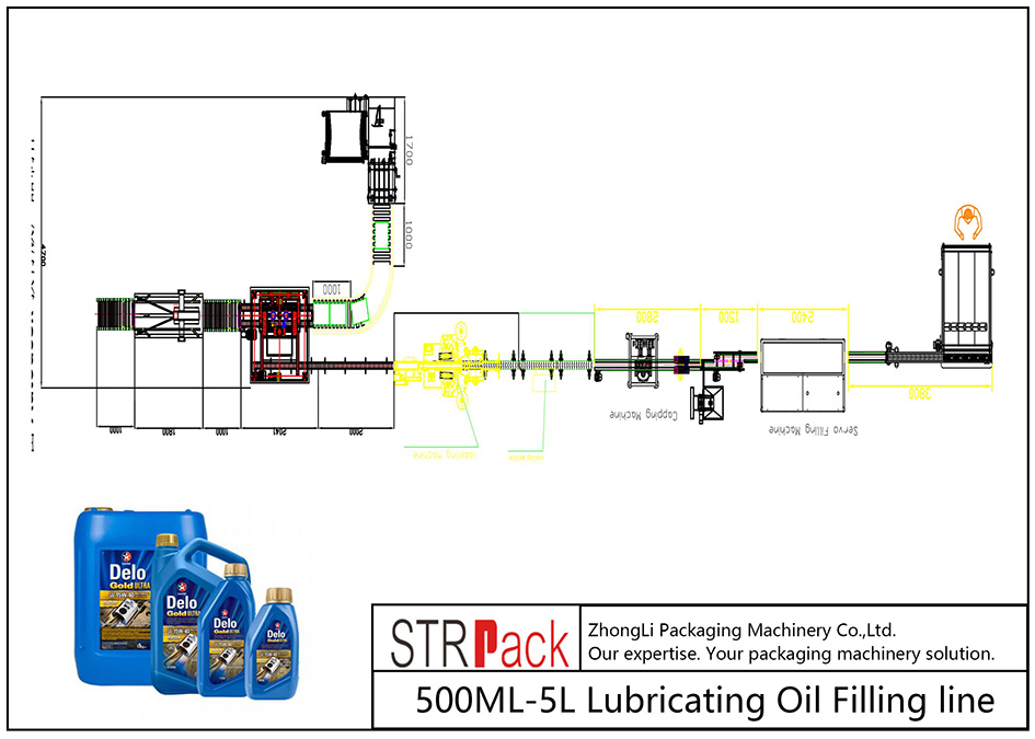 Автоматическая линия розлива смазочного масла 500ML-5L