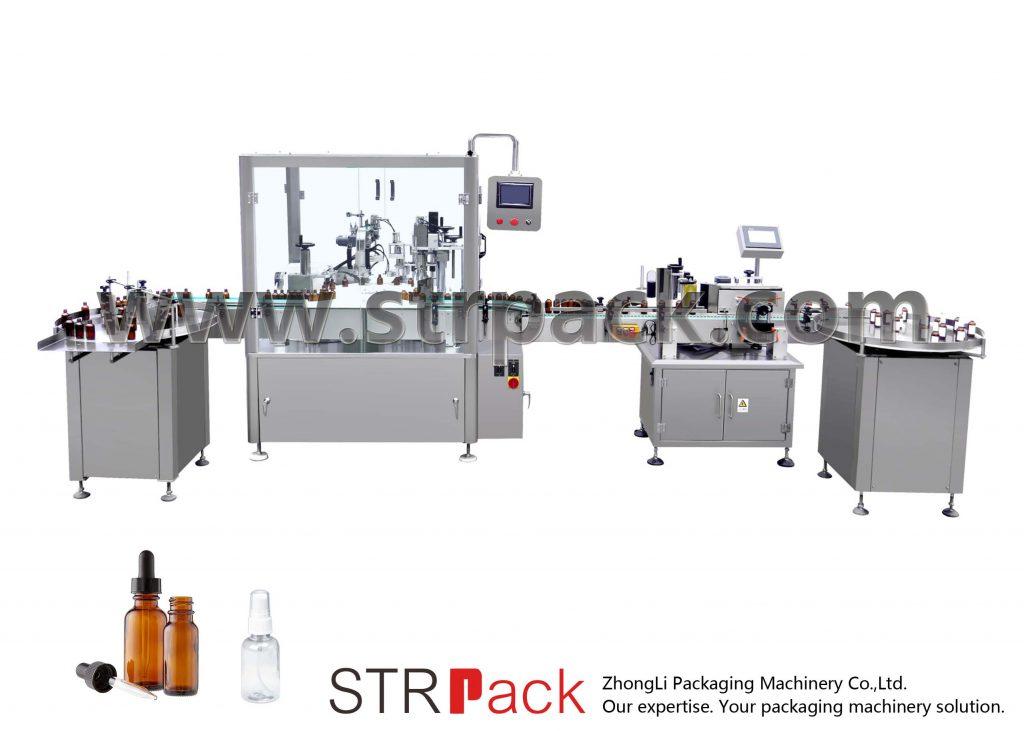 Автоматическая машина для наполнения и укупорки бутылок для капельниц