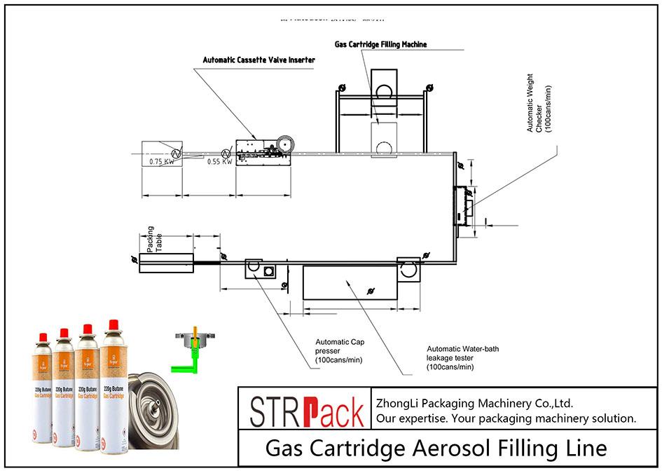 Автоматическая линия для наполнения газовых баллончиков аэрозолем