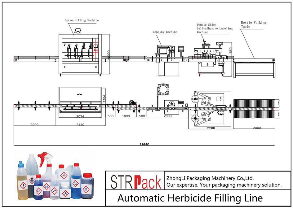 Автоматическая линия розлива гербицидов