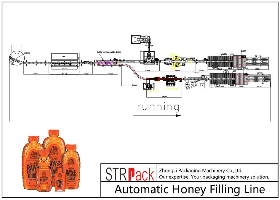Автоматическая линия по розливу меда