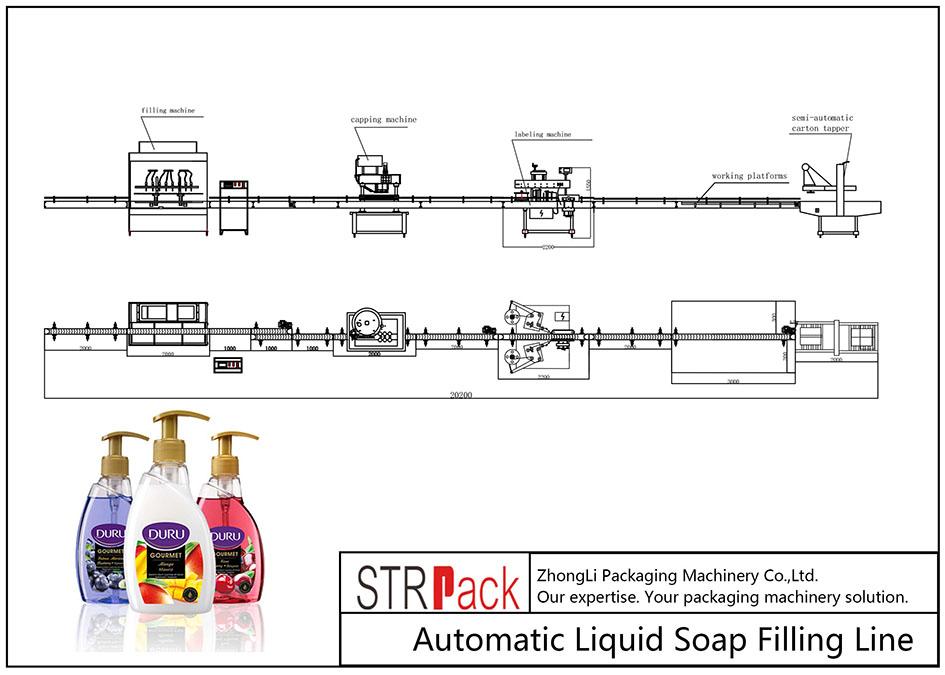Автоматическая линия розлива жидкого мыла