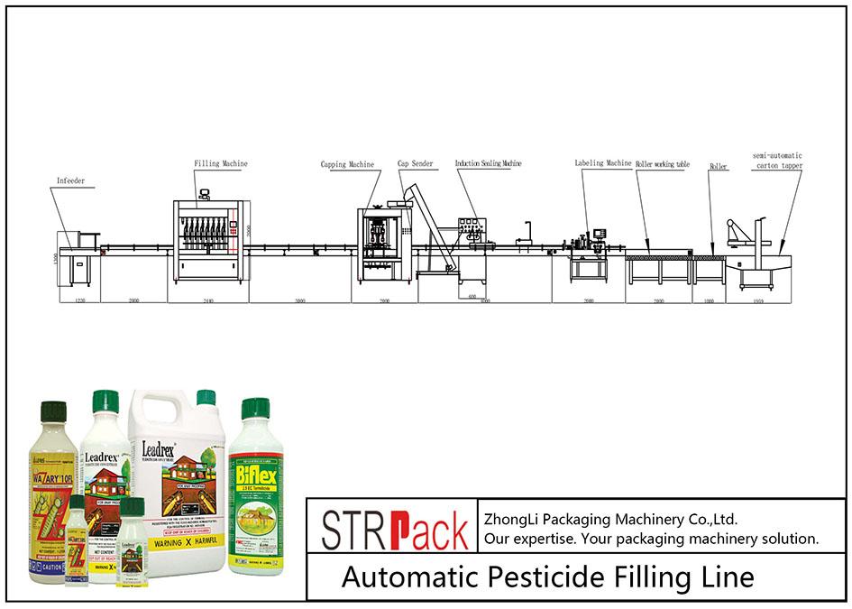 Автоматическая линия по розливу пестицидов
