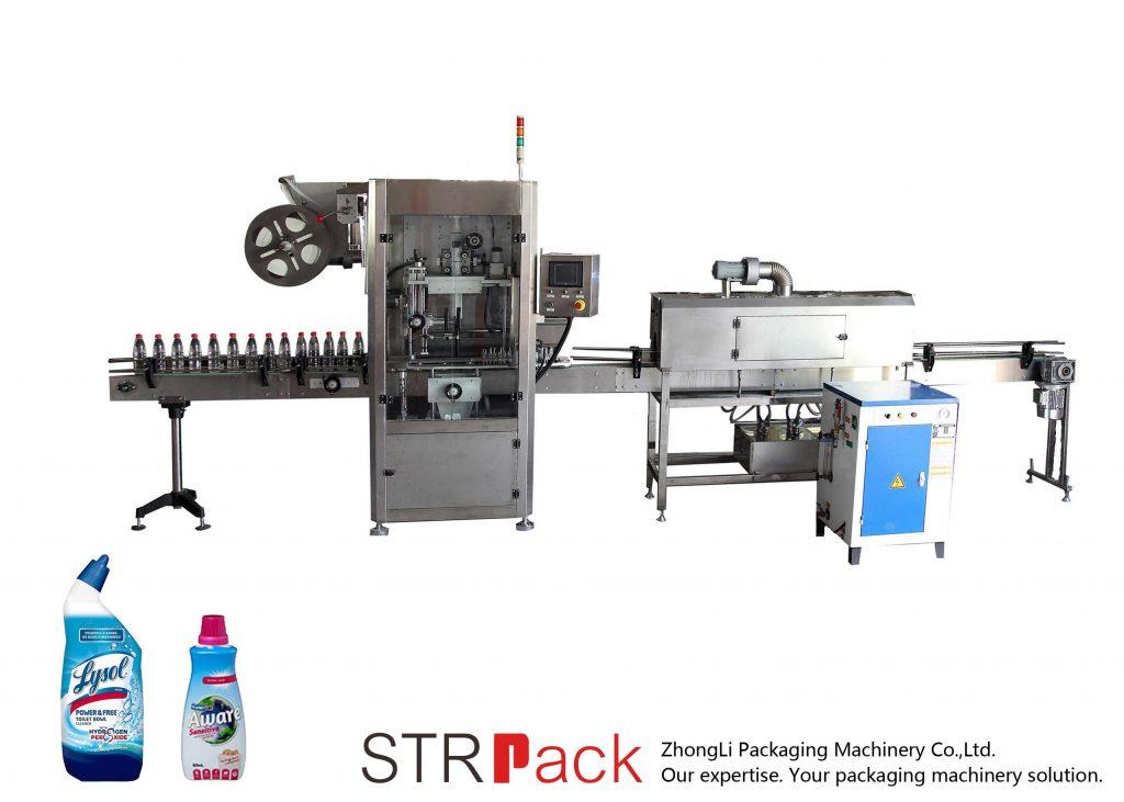 Автоматическая этикетировочная машина с термоусадочной этикеткой