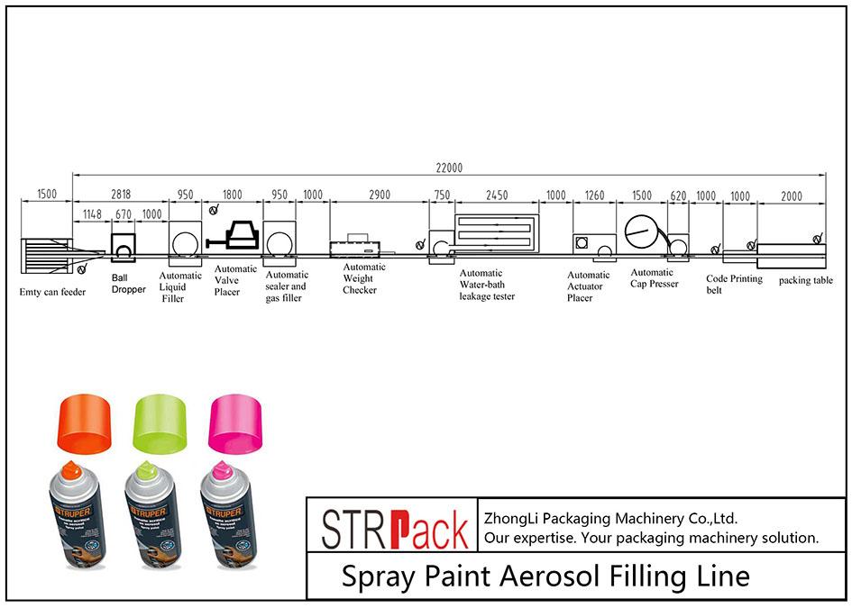 Автоматическая линия аэрозольного розлива аэрозольной краски