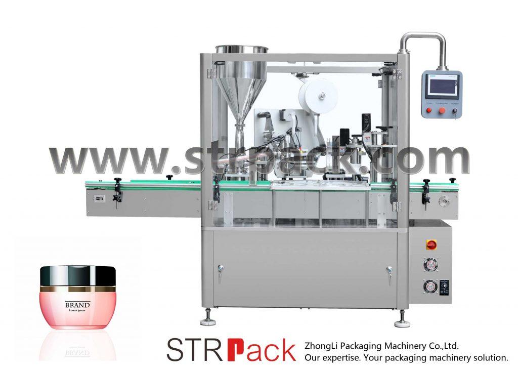 Машина для наполнения, запечатывания и укупорки кремов
