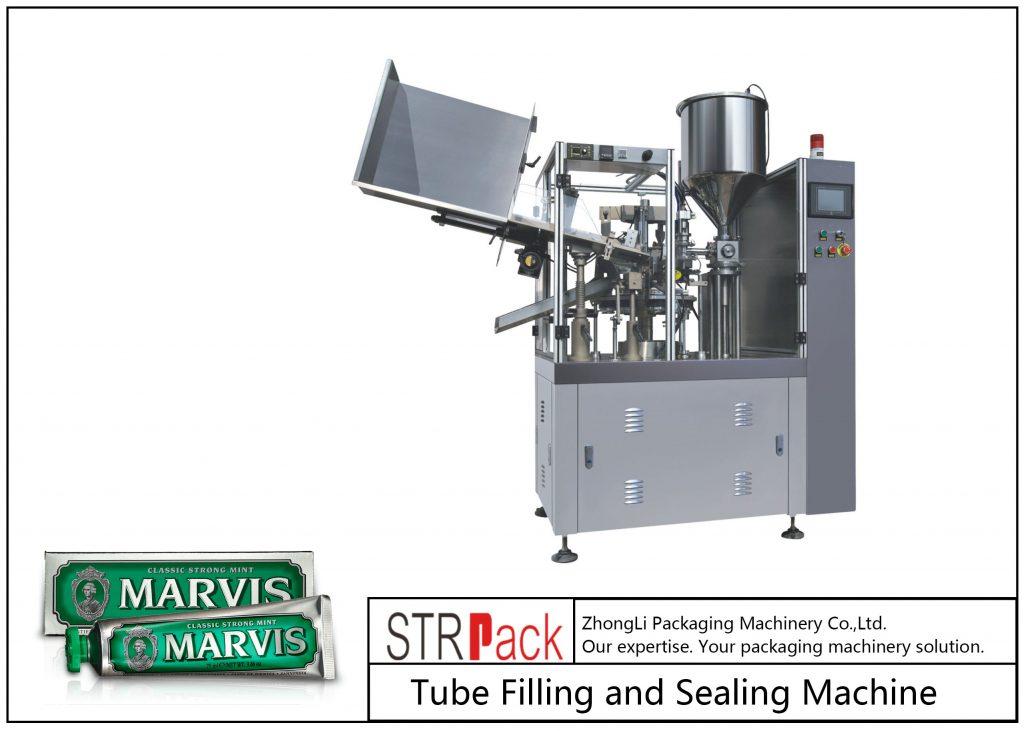 Машина для наполнения и запайки пластиковых туб SFS-60
